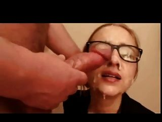 Camslut gets facial cumshot pov view