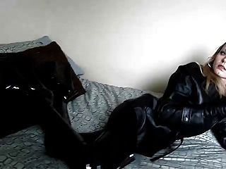 Smoking In Black Leather