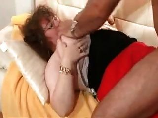 Elder Mom With Giant Saggy Boobs & Man