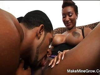 Ebony sucking big dick