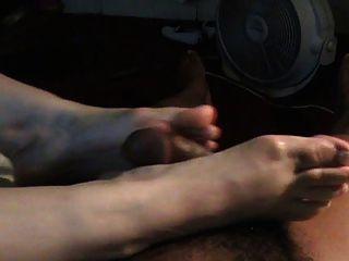 Ukrainian Neighbour Footjob