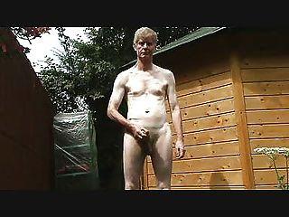 Outdoor Strip,  Wank And Cum