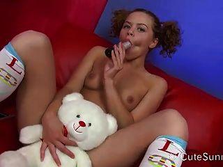 Curly Agile Teeny Home Striptease