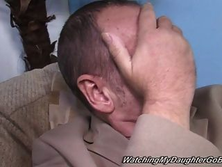 Chubby Suburban Girl Fucks Bbc In Front Of Daddy