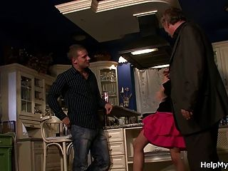 Old Guy Watches His Wife Go Crazy For Younger Cock