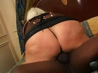 Mature Bbw Blonde With Pierced Nipples Getting Black Cock