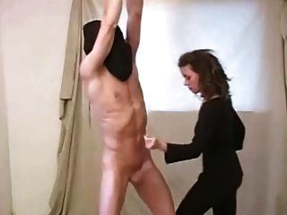 Basement mature thief whipped in the ass 1