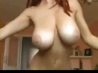 Huge Tits Redhead Dancing