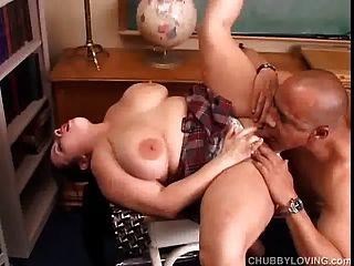 Beautiful Big Tits Bbw Gives A Great Blowjob And Enjoys A