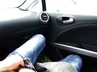 Girl Masturbate In Car