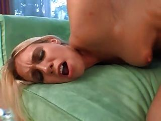 Big Butt Blonde Rides Black Cock