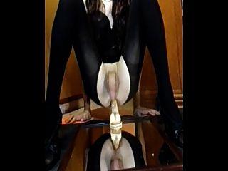 Amateur Cd Cumming With Dildo Up Her Ass