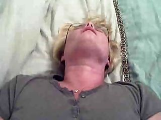 Blond Amateur With Glasses Does Anal