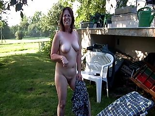 Clotilde Nude In The Garden