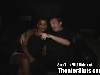 Ebony Wife Tuned Out By Strangers In A Tampa Porn Theater