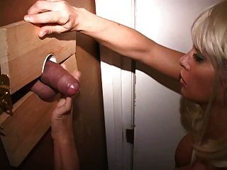 Bigtit Gloryhole Milf Sucks Man Clamps His Nipples