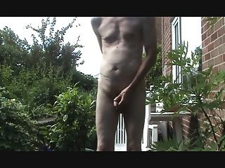 Butt Plug And Outdoor Wank