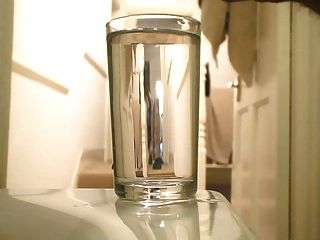 Quick Cum A In Glass Of Water!