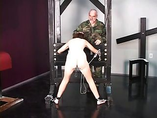 Cute Brunette Prisoner Of War Is Stripped Naked Before Torture Interrogation