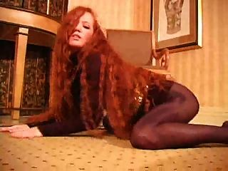 Hot Redhead In Pantyhose