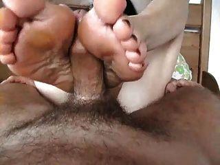 Mature Blowjob, Footjob And Cumshot On Soles