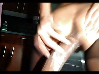 Hairy Latina Pussy Anal Dildo