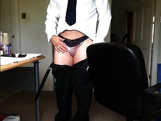 Office Cum On My Panties