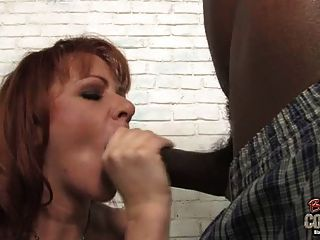 Busty White Mom Taste Black Cum