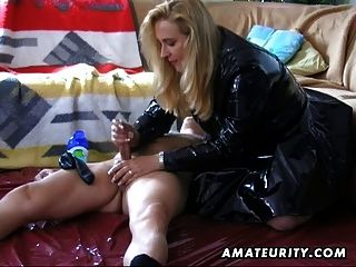 Amateur Housewife Homemade Blowjob And Handjob