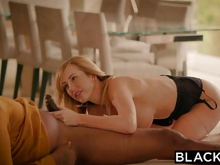 Blacked Brett Rossi Scared From Her Ex Big Black Boss Protec