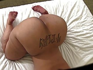 White Mega Butt And Shaved Pussy
