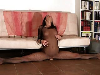Flexible Gymnast Rides Dildo & Multiple Orgasms