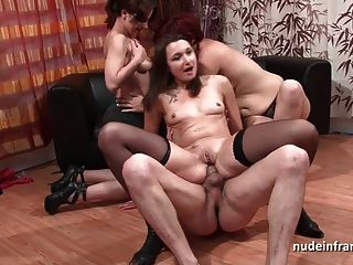 Fffm French Babes Sharing A Cock And Their Ass