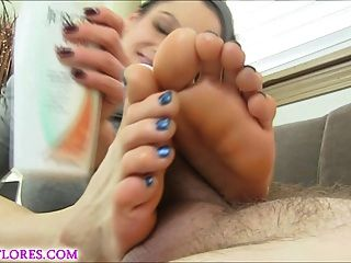 Mandy Flores In Cuckold Footjob