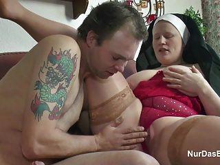 German grandma nun get fucked with not dad in sextape tmb
