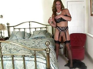 Milf In Black Satin