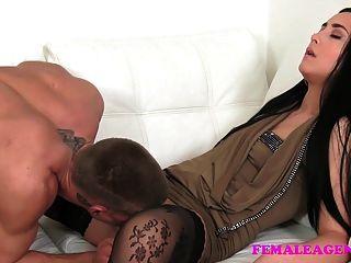 Femaleagent Horny Studs Cock Causes Him Problems