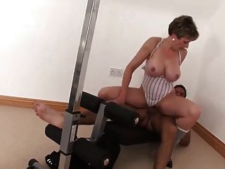 Sexy Busty Mature Fucks Her Personal Trainer