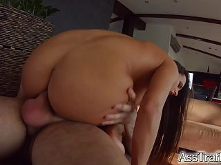 Ass Traffic Mea Melone Gets Deep Anal Pounding And Swallows