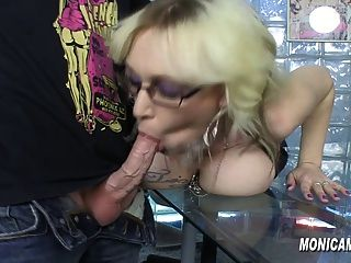 Monicamilf is fucking overtime at work 8