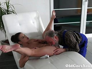 Old Goes Young - Old Man Is Very Grateful For Tight Teen