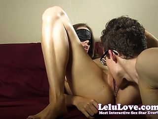 She Blindfolds Him And Lets Him Lick Her Pussy Out Of Pity