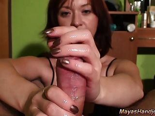 Maya Pov Sensual Handjob With Huge Cumshot