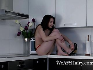 Rose Strips Naked And Puts On Counter Kitchen Show