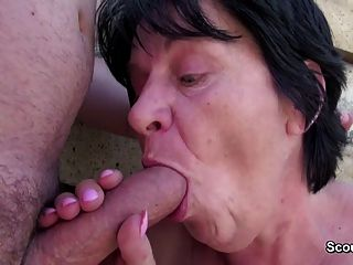 73yr old hairy granny seduce to anal fuck by 18yr old boy 6