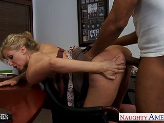 Blonde Teacher Julia Ann Fucking A Bbc