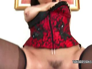 Exotic Hottie London Keyes Gets Her Asian Twat Stuffed