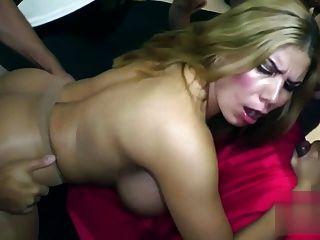 Hkm Big Fake Tits Creampie Gangbang