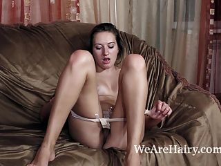 Kamila Masturbates After Stripping Naked On Sofa