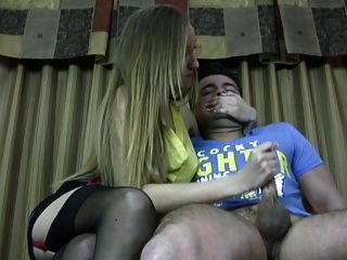Hot Bossy Girl Makes The Guy Cum